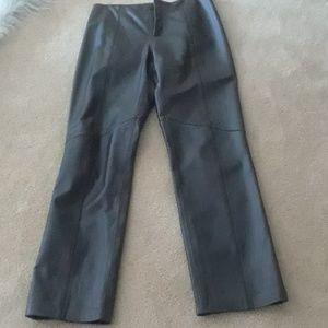 Dark brown leather pants